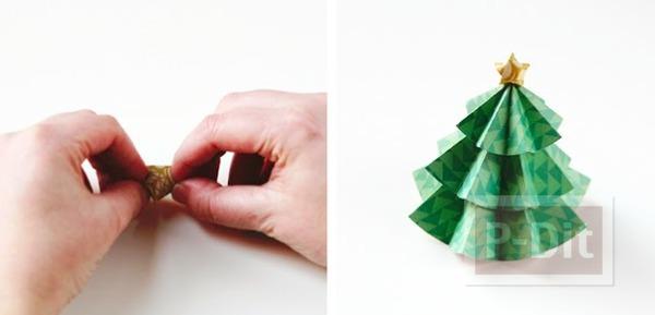 รูป 7 ต้นคริสต์มาส ทำจากกระดาษ พับเองน่ารักๆ