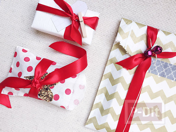 รูป 3 ไอเดียห่อของขวัญ แบบง่ายๆ