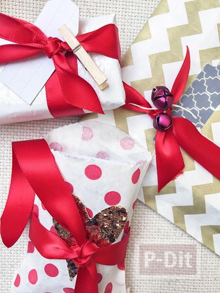 รูป 4 ไอเดียห่อของขวัญ แบบง่ายๆ