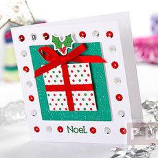 ตกแต่งการ์ดคริสต์มาสสวยๆ กล่องของขวัญ