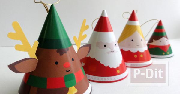 หมวกกระดาษ น่ารักๆ ประดับเทศกาลคริสต์มาส