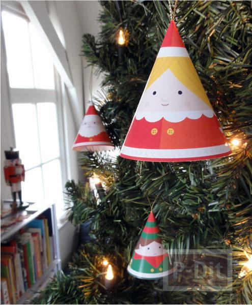 รูป 4 หมวกกระดาษ น่ารักๆ ประดับเทศกาลคริสต์มาส