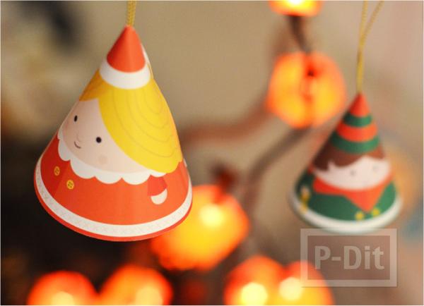 รูป 5 หมวกกระดาษ น่ารักๆ ประดับเทศกาลคริสต์มาส