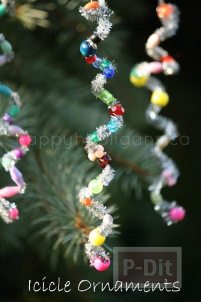 รูป 5 ตกแต่งต้นคริสต์มาส ลวดกำมะหยี่ ร้อยลูกปัด
