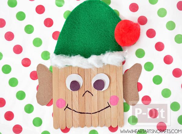 ตุ๊กตาเอลฟ์ ทำจากไม้ไอติม