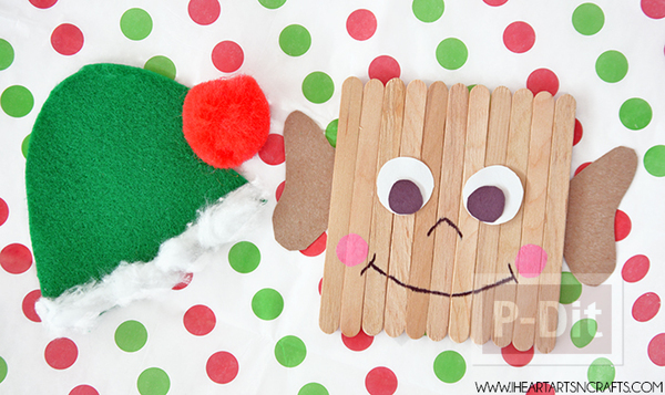 รูป 3 ตุ๊กตาเอลฟ์ ทำจากไม้ไอติม