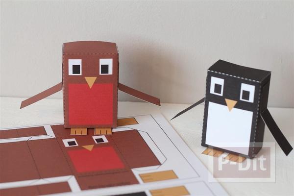 นกเพนกวิ้นกระดาษ น่ารักๆ