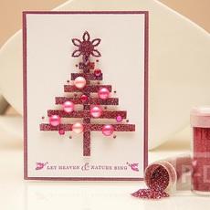 การ์ดคริสต์มาสสวยๆ ทำจากกระดาษการ์ดสีสดใส