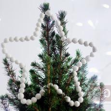 ทำดาวประดับต้นคริสต์มาส จากลูกปัดไม้