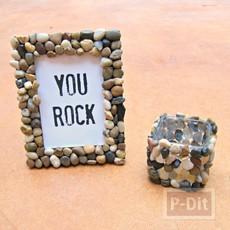 ตกแต่งกรอบรูป ลายก้อนหิน