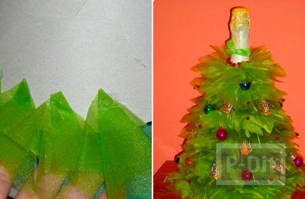รูป 4 ห่อขวดไวน์สวยๆ ลายต้นคริสต์มาส