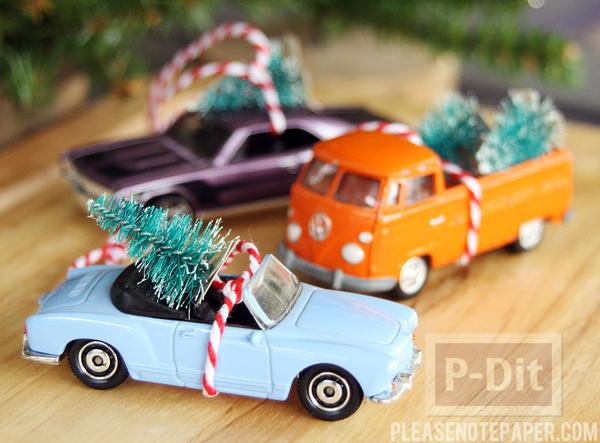 ของขวัญน่ารักๆ รถลากต้นคริสต์มาส ต้นเล็กๆ