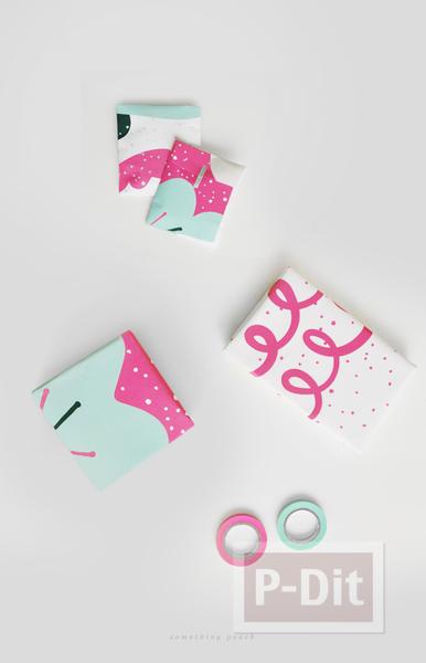รูป 5 กระดาษห่อของขวัญ ลายสวยๆ เทศกาลปีใหม่