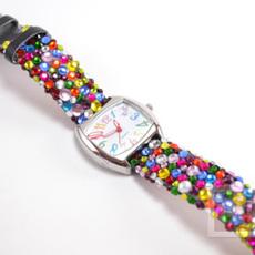 สายนาฬิกาสวยๆ ประดับเม็ดคริสตัล เม็ดเล็กๆ