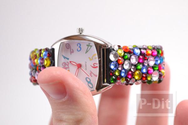 รูป 5 สายนาฬิกาสวยๆ ประดับเม็ดคริสตัล เม็ดเล็กๆ