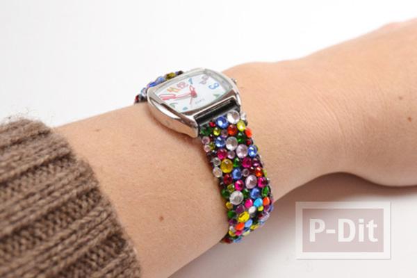 รูป 6 สายนาฬิกาสวยๆ ประดับเม็ดคริสตัล เม็ดเล็กๆ