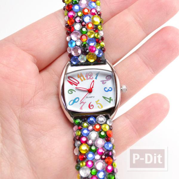 รูป 7 สายนาฬิกาสวยๆ ประดับเม็ดคริสตัล เม็ดเล็กๆ