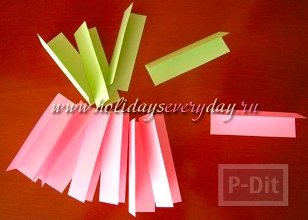 รูป 2 ดอกบัว พับกระดาษสีสวย