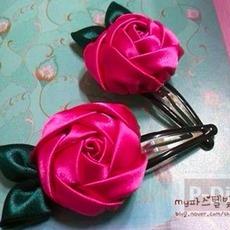 สอนทำกิ๊บติดผมสวยๆ ประดับดอกกุหลาบ
