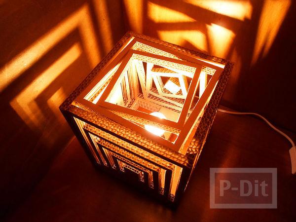 รูป 3 โคมไฟสวยๆ ทำจากกระดาษลัง