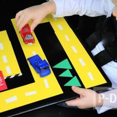 ทำทางเดินรถของเล่น จากกระดาษสีสด