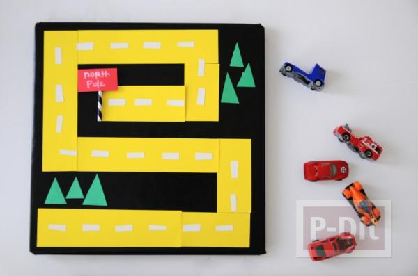 รูป 3 ทำทางเดินรถของเล่น จากกระดาษสีสด