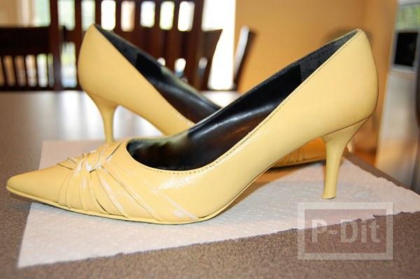 รองเท้า เข็มขัดเก่า พ่นสีใหม่ สีสดใส
