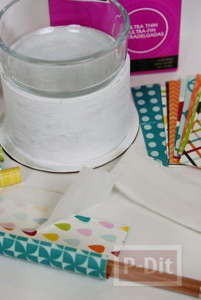 รูป 4 แจกันดอกไม้ ประดับจากกระดาษสีสวย