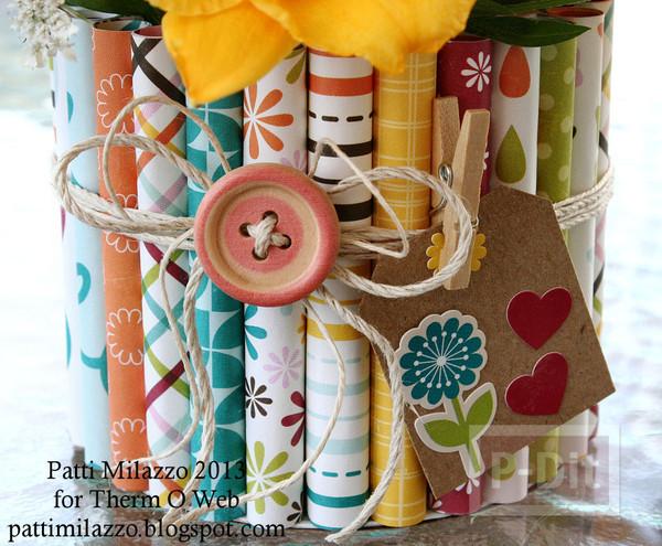 รูป 7 แจกันดอกไม้ ประดับจากกระดาษสีสวย