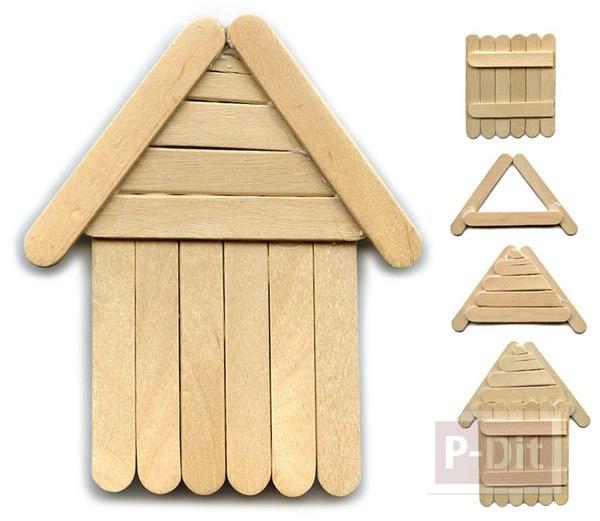 รูป 2 บ้านไม้ไอติม เล็กๆ น่ารักๆ