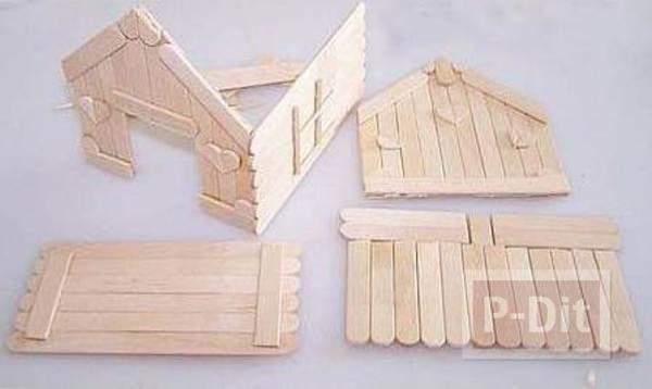 รูป 3 บ้านไม้ไอติม เล็กๆ น่ารักๆ