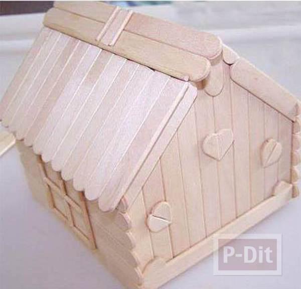 รูป 4 บ้านไม้ไอติม เล็กๆ น่ารักๆ