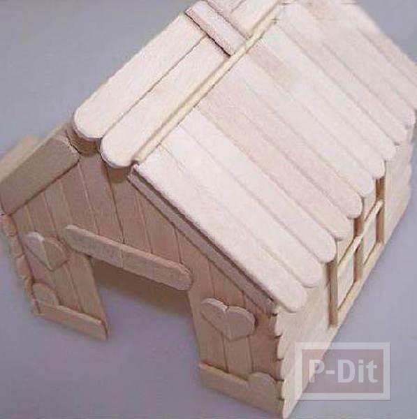 รูป 5 บ้านไม้ไอติม เล็กๆ น่ารักๆ