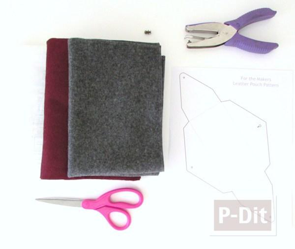 รูป 2 สอนทำซองใส่มือถือสวยๆ จากผ้าสักกะหลาด