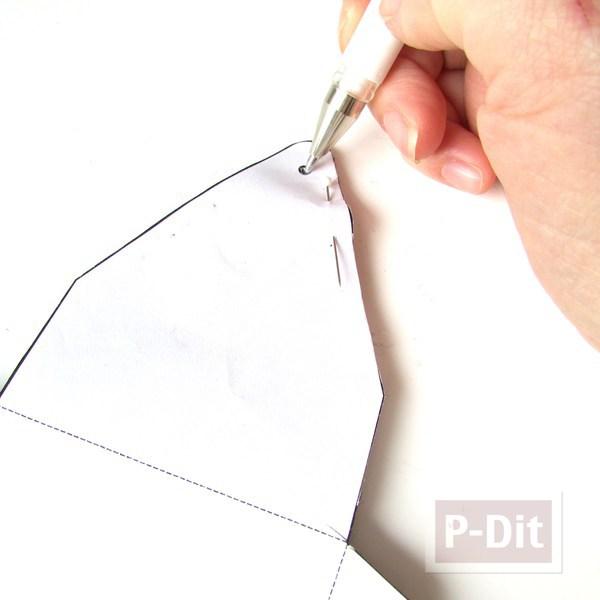 รูป 4 สอนทำซองใส่มือถือสวยๆ จากผ้าสักกะหลาด