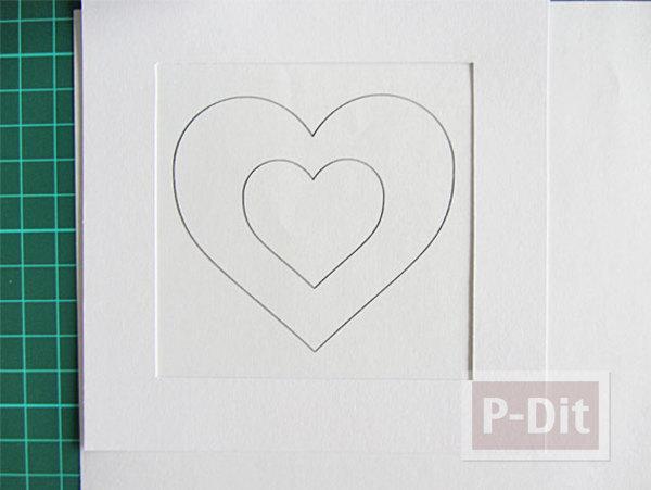 รูป 3 การ์ดวาเลนไทน์สวยๆ หัวใจแขวน
