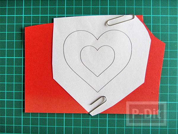 รูป 4 การ์ดวาเลนไทน์สวยๆ หัวใจแขวน