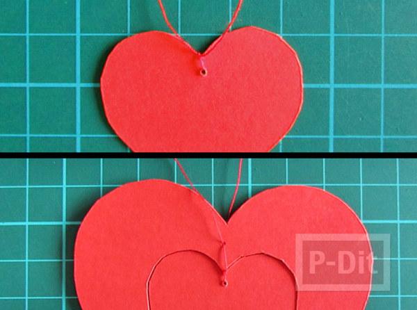 รูป 6 การ์ดวาเลนไทน์สวยๆ หัวใจแขวน
