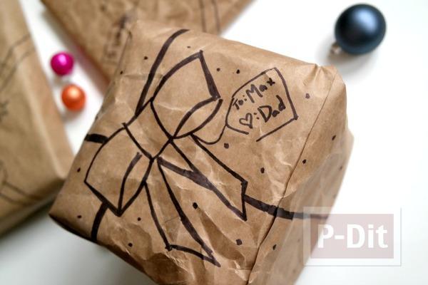 ห่อของขวัญ จากถุงกระดาษเก่าๆ
