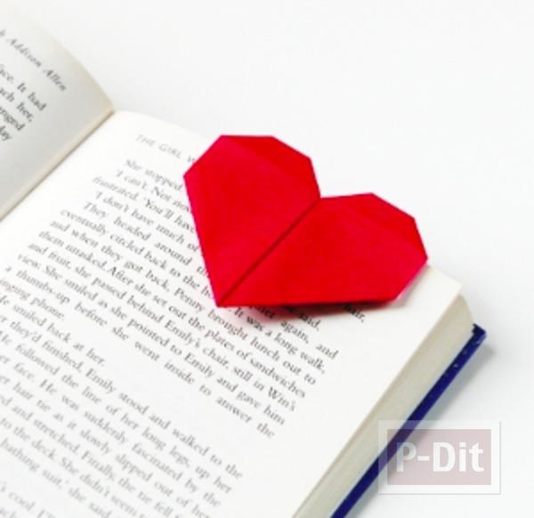 สอนทำที่คั่นหนังสือ หัวใจกระดาษ