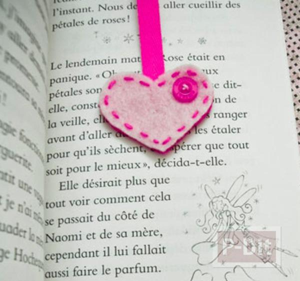รูป 1 ทำที่คั่นหนังสือ หัวใจ น่ารักๆ