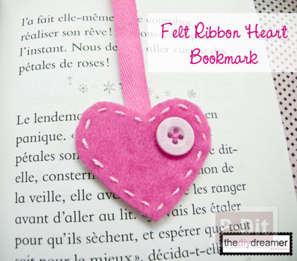 รูป 2 ทำที่คั่นหนังสือ หัวใจ น่ารักๆ