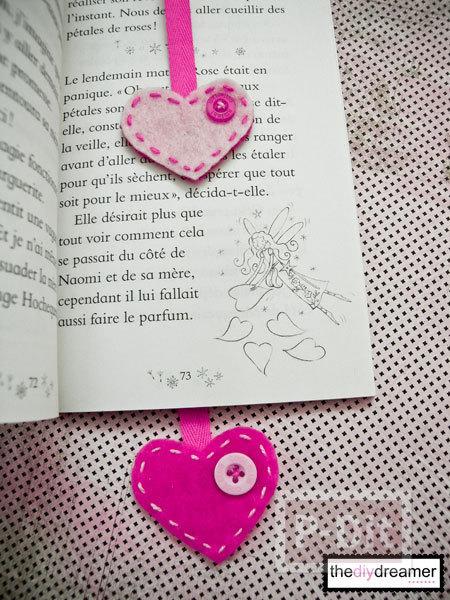 รูป 3 ทำที่คั่นหนังสือ หัวใจ น่ารักๆ