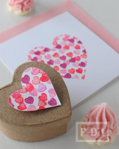 รูป 1 การ์ดวาเลนไทน์ ปั้มรูปหัวใจ น่ารักๆ