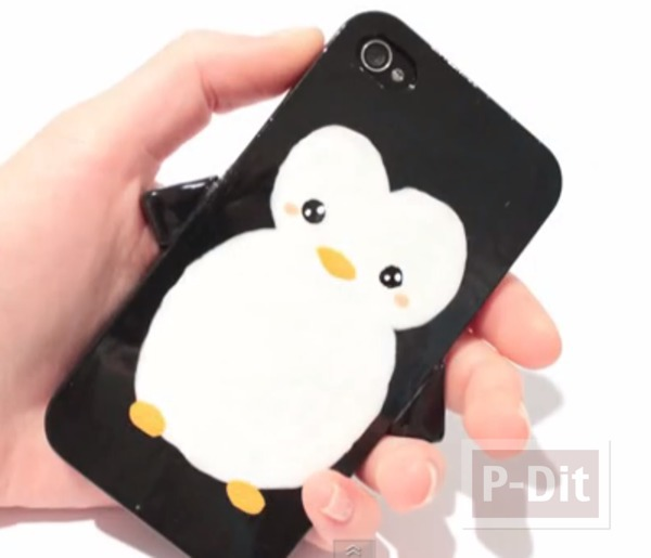 เคสไอโฟน ลายนกเพนกวิน วาดลายน่ารัก