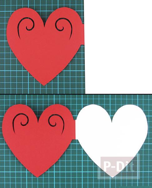 รูป 6 ตัดการ์ดเป็นรูปหัวใจ ส่งความรักวันวาเลนไทน์