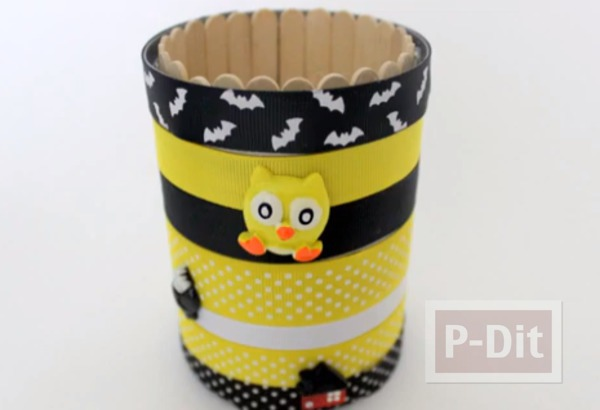 ที่ใส่ดินสอ ทำจากกระป๋องเก่าๆ