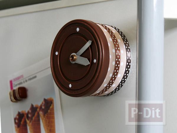 นาฬิกาติดผนัง ตกแต่งจากกระป๋องทูน่า