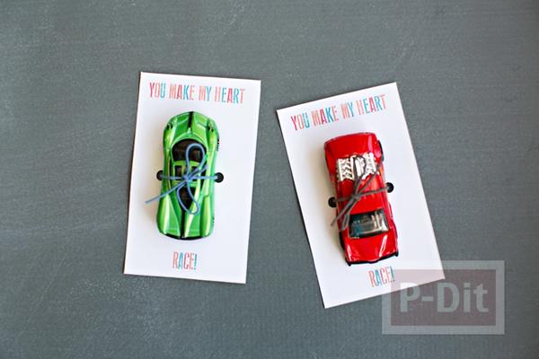 การ์ดของขวัญ รถแข่งคันเล็กๆ