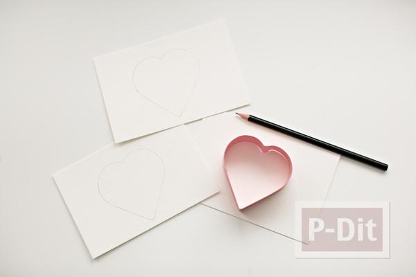 รูป 2 ส่งความรักวันวาเลนไทน์ ถักการ์ดรูปหัวใจ